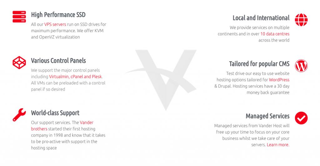 vander shared hosting